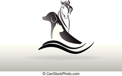 Veterinary logo icon vector