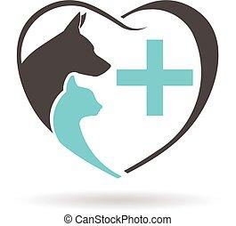 Veterinary logo. Vector graphic design