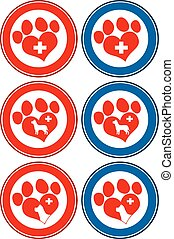 Veterinary Love Paw Print Banners