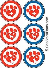 Veterinary Love Paw Print Banners