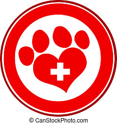 Veterinary Love Paw Print