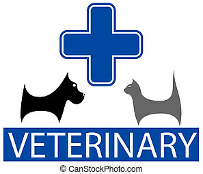 veterinary symbol with isolated pet