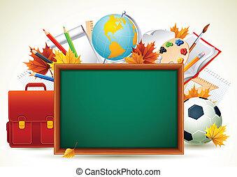 Back to school - Vetor illustration - Back to school...