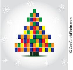 vetorial, árvore, natal, ilustração