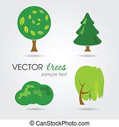 vetorial, árvores, cobrança