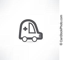 vetorial, ícone, ambulância, ícone