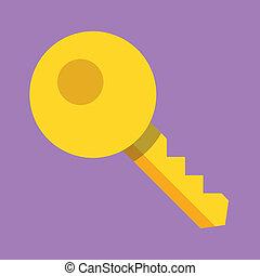 vetorial, ícone chave