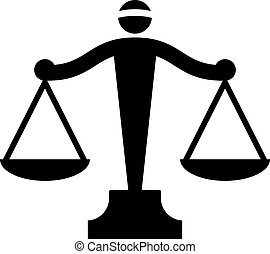 vetorial, ícone, de, justiça, escalas