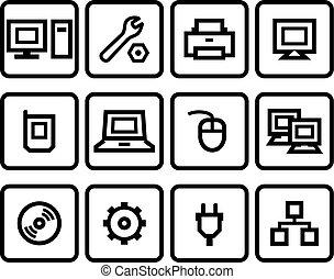 vetorial, ícones correia fotorreceptora, jogo