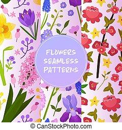 vetorial, íris, jogo, convite, primavera, hydrangea, casório, seamless, ilustração, saudação, aquarela, florescido, aniversário, fundo, padrão experiência, floral, florescendo, flores, cartão