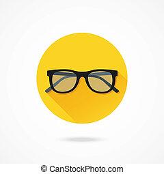 vetorial, óculos, ícone