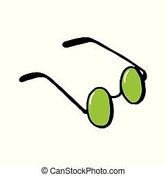 vetorial, óculos de sol, óculos