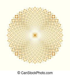 vetorial, óptico, fundo, ciclos, fiar, ilusão