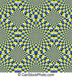 vetorial, óptico, fundo, fiar, ilusão, (eps), ciclo