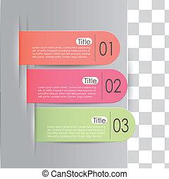 vetorial, abstratos, 3d, papel, infographics