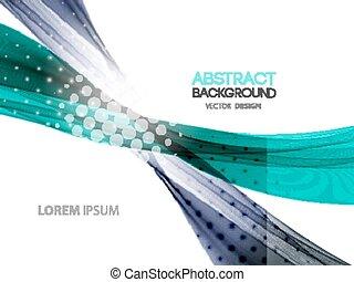 vetorial, abstratos, curvado, linhas