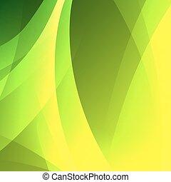 vetorial, abstratos, experiência verde