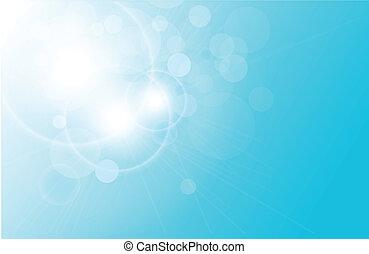 vetorial, abstratos, fundo, azul, lig