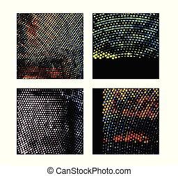 vetorial, abstratos, jogo, halftone, backgrounds., illustration.