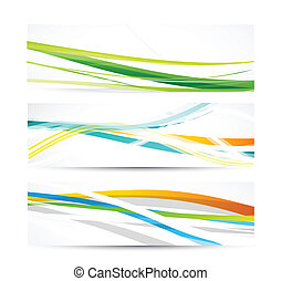vetorial, abstratos, linhas, bandeiras
