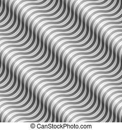 vetorial, abstratos, pattern., listras diagonais, ondulado, pretas, branca