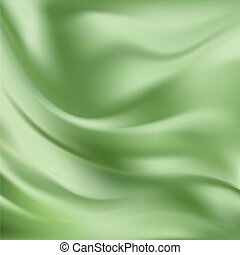 vetorial, abstratos, seda, verde, textura