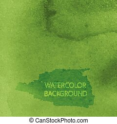 vetorial, abstratos, verde, aquarela, fundo, para, seu,...