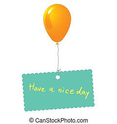 vetorial, agradável, cartão, dia, ter