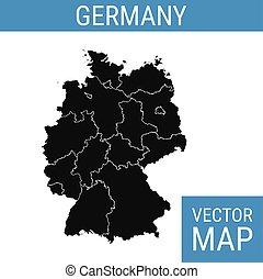 vetorial, alemanha, mapa, título
