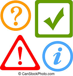 vetorial, alerta, ícones