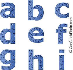 vetorial, alfabeto, -, 1, parte, bolha