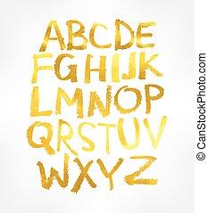 vetorial, alphabet., manuscrito