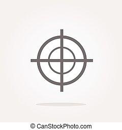 vetorial, alvo, ícone, isolado, branco, fundo