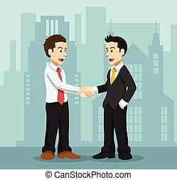 vetorial, amizade, apartamento, ilustração