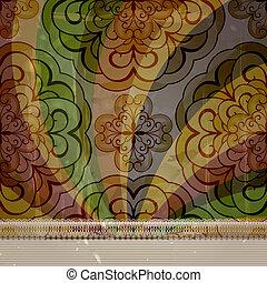 vetorial, antigas, quadro, primavera, abstratos, seamless, blots, floral, papel, padrão, retro, fundo, texto, grungy, lacy, seu, textura
