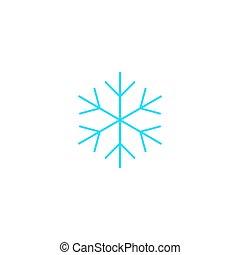vetorial, apartamento, simples, design., ícone, snowflake, illustration.