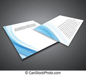 vetorial, apresentação, profissional, folheto, abstratos, negócio, desenho, incorporado, ilustração