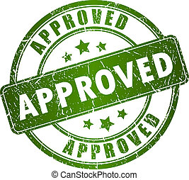vetorial, aprovado, selo