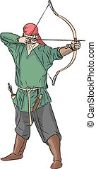 vetorial, archer.
