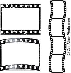 vetorial, arranhado, película
