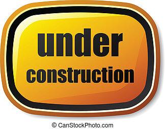 vetorial, arredondado, botão, construção, sob, retângulo