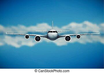 vetorial, avião