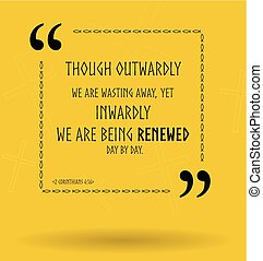vetorial, bíblia, citação, aproximadamente, cristão, renovação