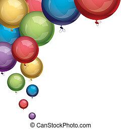 vetorial, balões