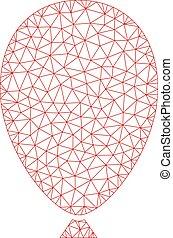 vetorial, balloon, ilustração, polygonal, malha, quadro, celebração