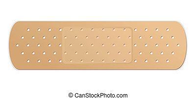 vetorial, bandage adesivo