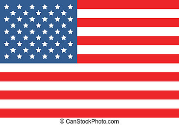 vetorial, bandeira americana