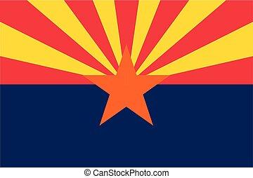 vetorial, bandeira, de, estado arizona, estados unidos, de,...