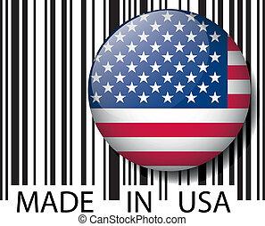 vetorial, barcode., feito, ilustração, eua