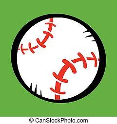 vetorial, basebol, ícone